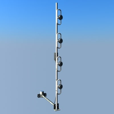 Folded dipole vertical stack array antenna