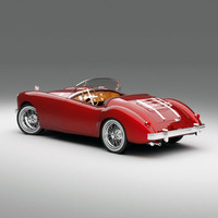 roadster mg mga 3d model