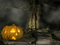 pumpkin tree 3d obj