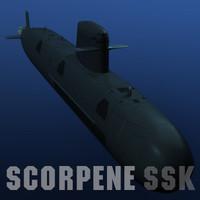 scorpene class attack submarine obj