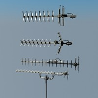 TV aerials collection Yagi