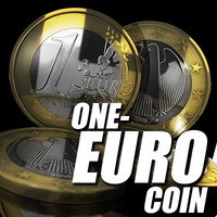 one-euro coin euro 3d model
