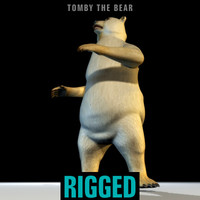maya polar bear tomby rigged