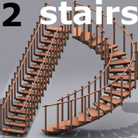2 wooden stair