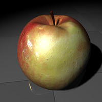 3d model of apple fruit