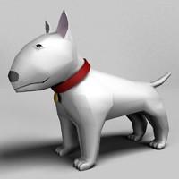 3d model bull terrier