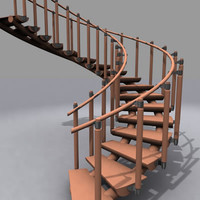 3d model of spiral stair 03
