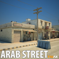 arab city buildings 3ds