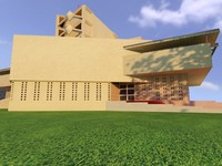 3d pfeiffer chapel model