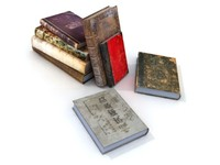 old books 3d 3ds