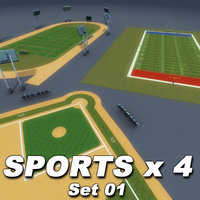 sporting soccer field athletics 3ds