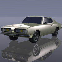 3d plymouth barracuda model