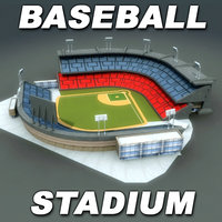 3ds max baseball stadium