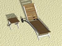 beach bench 3d max