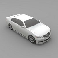 car lexus gs430 3d max