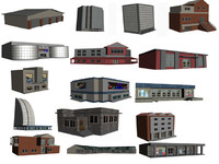 3d model buildings houses games