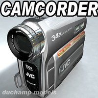 3d model jvc camcorder