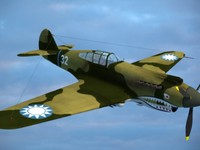 3d max p-40 warhawk fighter aircraft