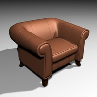 3d model armchair comfy