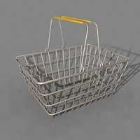 3d shopping basket