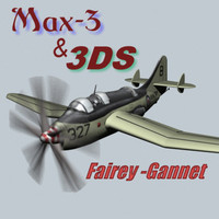 Fairey GANNET 3ds and Max 3 Model