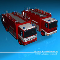 dxf firetruck truck