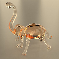 glass elephant 3d 3ds