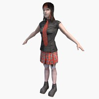 character female 01 3d c4d