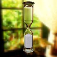 3d glass hourglass hourglass01