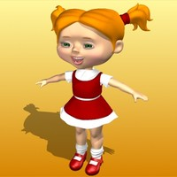 3d model little girl katya character