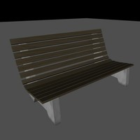 Low-Poly cartoon bench