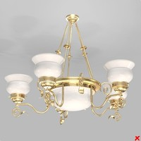 3d model chandelier light lamp