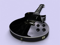 gibson les paul black 3d model