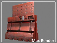 construction barrier 3d max