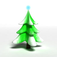 Snow Tree Plastic Toy