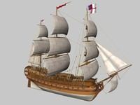 warship sail c4d