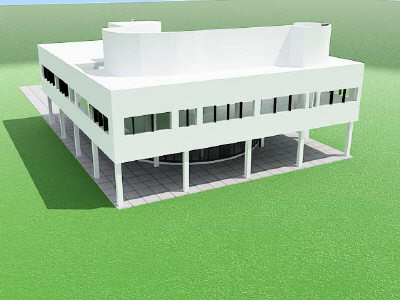 3d modern architecture der rohe model - Modern Architecture... by 3d_addict