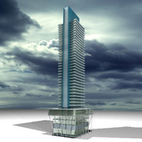 3d model of skyscraper
