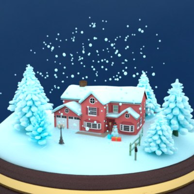 3d snow globe model - Snow Globe II... by AhearnART