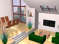 3d split room model