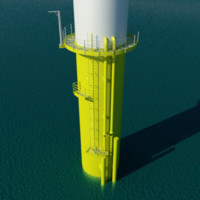 offshore foundation wind energy 3ds