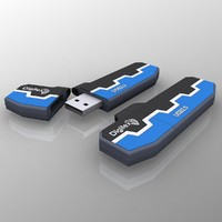 3d usb flash model