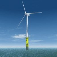 Offshore wind turbine complete