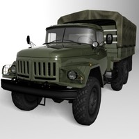 zil-131 low-poly soviet 3d model