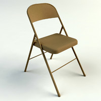 3d model folding chairs