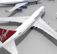 3d model 747 400 747-400