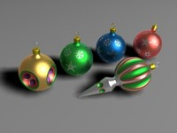 glass christmas balls 3d max