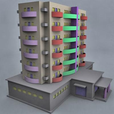Building flat 3d model for Model of flat
