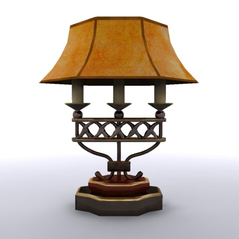 old fashioned lamp shade 3d model