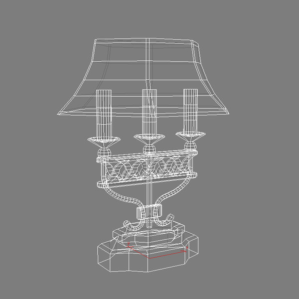 old fashioned lamp shade 3d model antique lamp by piewster. Black Bedroom Furniture Sets. Home Design Ideas